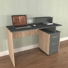 Комп'ютерний стіл «Мінівайт  53/1200» Колір «Дуб шамоні, світлий/графіт»